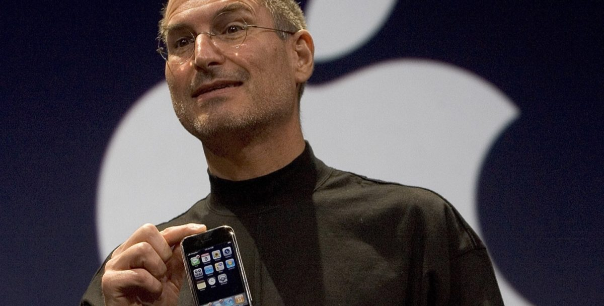Steve Jobs at the iPhone announcement