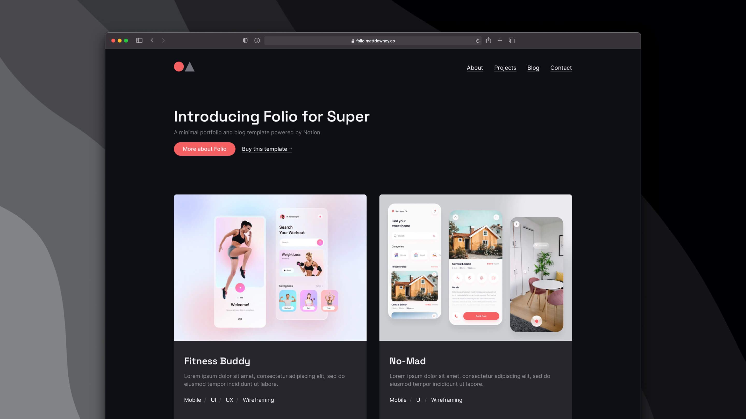 Folio - A Super Template powered by Notion